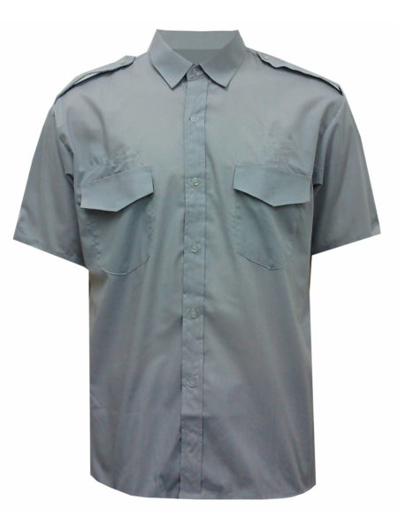 BKBRN001_Worker Short sleeve shirt front