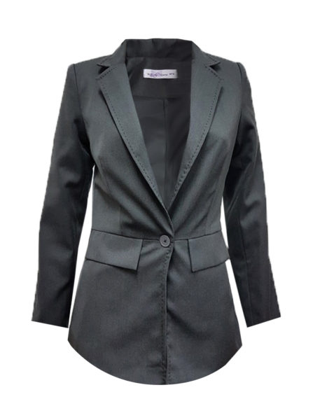 BKVSP011_Front View Charcoal Grey Female Jacket-