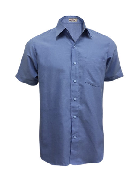 bkart009_front-view-unisex-blue-ss-shirt-with-logo